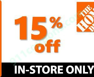 Home Depot 15% OFF HD PRINTABLE COUPON Promo – IN-STORES ONLY