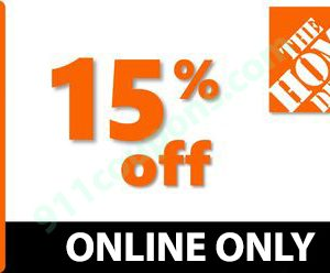 Home Depot 15% Off Coupon Promo Code – ENTIRE PURCHASE – ONLINE ONLY