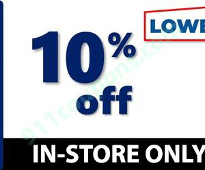Lowes 10% Off Printable Coupon Promo – IN-STORES ONLY – Must Use Same Day – INSTANT DELIVERY